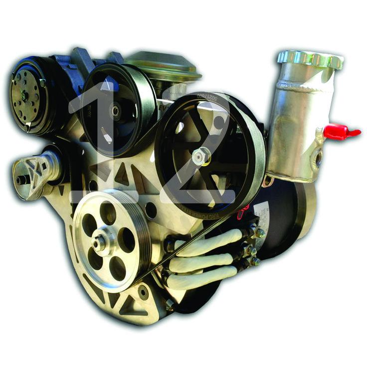 Placa de adaptadores con soportes para bomba de vacio, A/C y caja de direccion