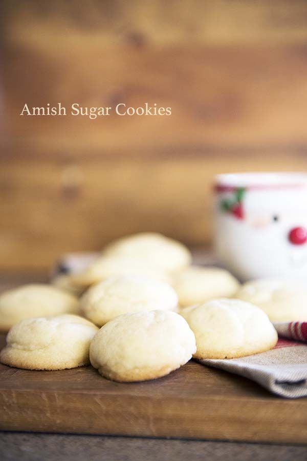 Amish Sugar Cookies are a simple, soft and flavorful sugar cookie, made famous by the Amish. From @dineanddish