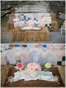 Hay bale couch...could be used for outdoor photo shoot, party seating.  Could place 4 battery operated outdoor lights on either end for night time lighting.  Cover with fabric of choice.