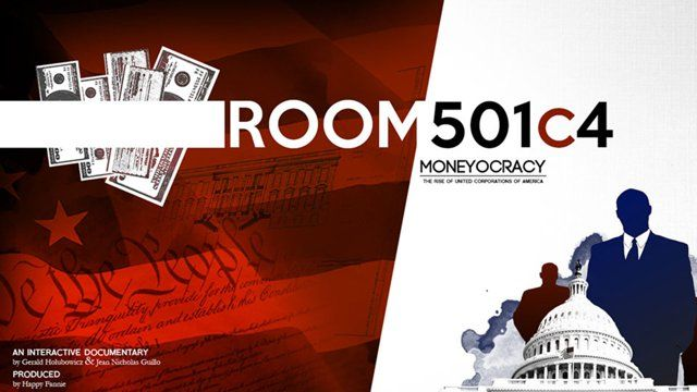 ROOM 501C4 is an immersing and educative experience crafted around an interactive documentary (i-doc). In this i-doc, YOU - the spectactor - play a fictional character recruited by a secret organization who wants to support a candidate running for the Presidential election. Moving forward into the experience, you'll have to decide how to market a fictional presidential candidate called Bill O'Maney and how to finance his campaign.
