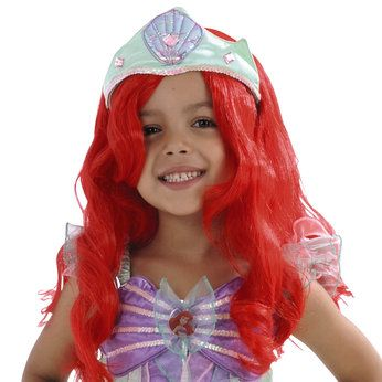 Disney Princess Wig - Ariel  Dressing up clothes for hours of fun! Children will love dressing up as their favourite Disney Princess with these fantastic Disney Princess Wigs. Use them to finish off your Disney Princess outfit!  http://www.comparestoreprices.co.uk/childs-toys/disney-princess-wig--ariel.asp