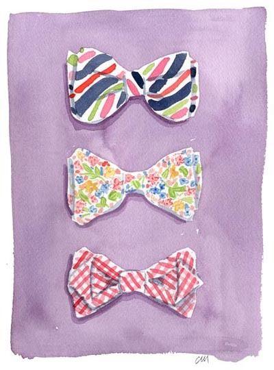 . #fashion #bow_tie #illustration