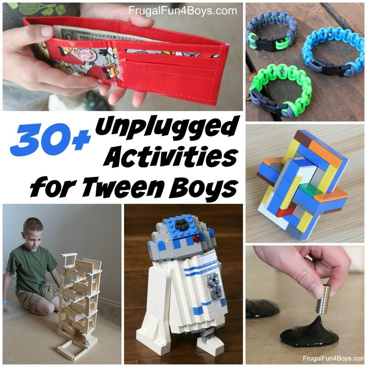 """30+ Unplugged Activities for Tween Boys - ignoring the creepy """"Creationist"""" comment"""
