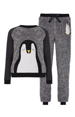 Novelty Penguin Sherpa PJ Set