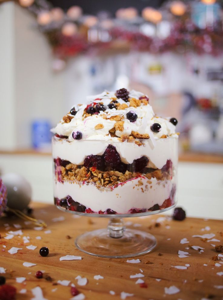 Erdeigyümölcsös karácsonyi trifle