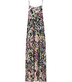 Womens Black Pleated Maxi Dress - Reiss Kyra