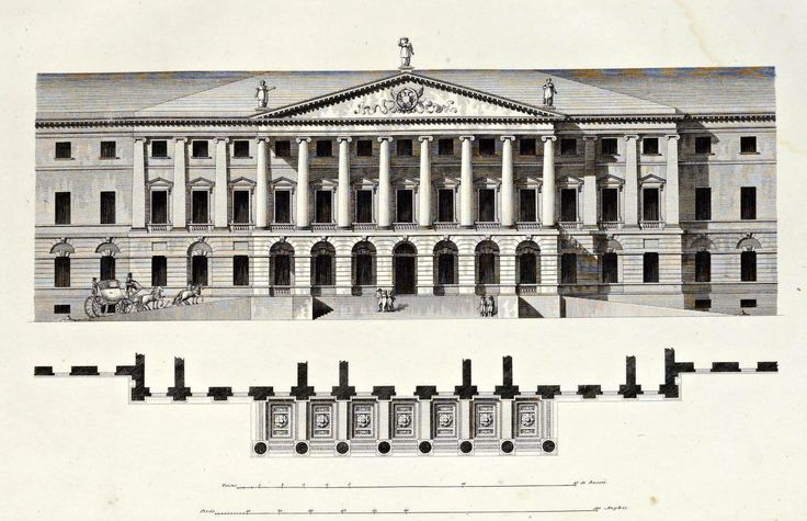 Elevation of a projected Institute for Noble Ladies, St. Petersburg