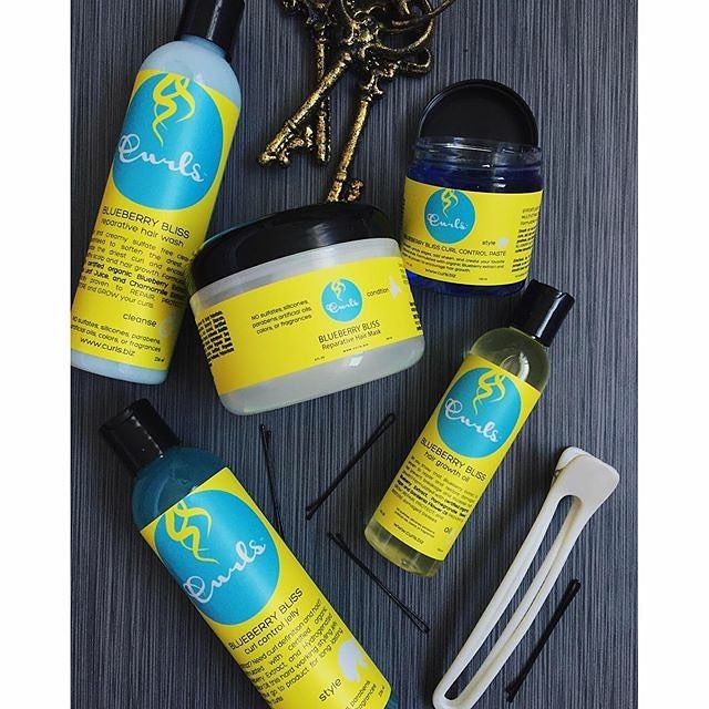 Wash day will NEVER be the same again Enhance your routine with the NEW Blueberry Bliss Reparative Hair Wash, so soft you won't need a conditioner, Blueberry Bliss Reparative Hair Mask for the smoothest, strongest curls you've ever experienced and finally the Blueberry Bliss Hair Growth Oil to take you past your growth plateau  How?  With certified organic blueberry extract!  Available at www.curls.biz.  #frizzfreecurls #blueberryblisscurlcollection @janae_raquel