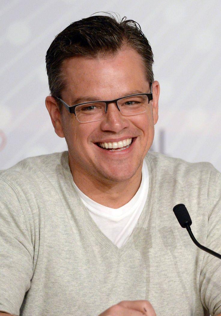 You're looking very Harvard today, Matt Damon