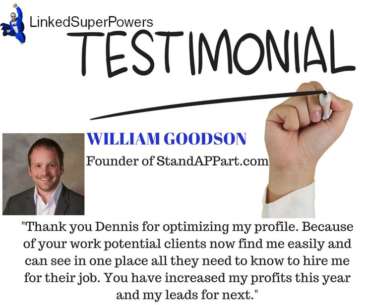 Thank you for sharing your personal experience William Chad Goodson. Hearing success stories from clients like you is what makes it all worthwhile!
