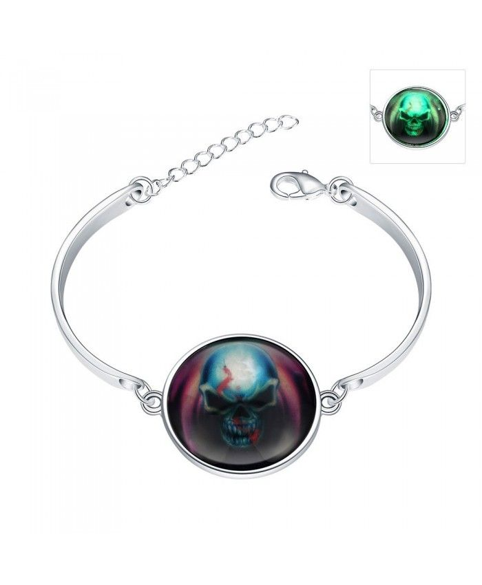 2016 New Style Luminous Silver Plated Bracelet for Halloween ideas