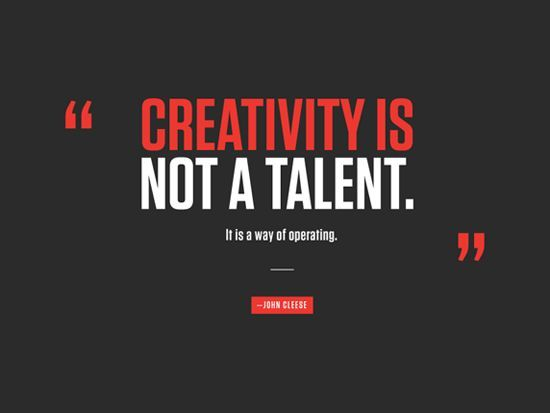 creativity is not a talent it is a way of operating - Google Search