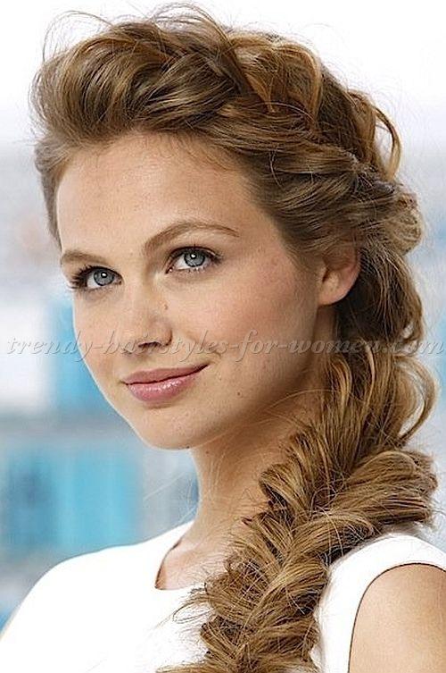 braided hairstyles, plaits, braided hair - loose fishtail braid