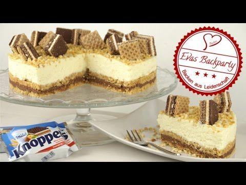 Knoppers - Torte / ohne Backen / knusprig / nussig / schokoladig / Backen mit Evas Backparty - YouTube