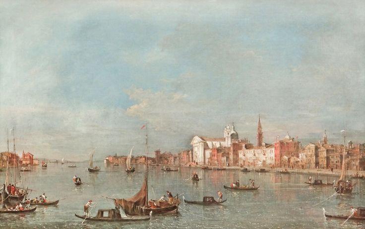 Le canal de la Giudecca - Francesco Guardi - Gemäldegalerie, Berlin