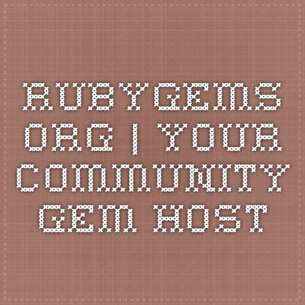 RubyGems.org | your community gem host