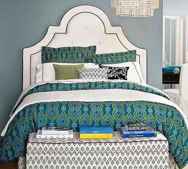 .: Guest Room, Headboard Shape, Headboards, Color, Master Bedroom, Headboard Ideas, Bedroom Ideas, Beautiful Bedrooms