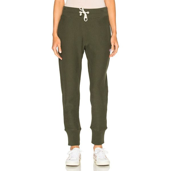 Champion Sweatpants ($56) ❤ liked on Polyvore featuring activewear, activewear pants, pants, cotton sweatpants, champion activewear, cotton sweat pants, champion sweatpants and champion sportswear