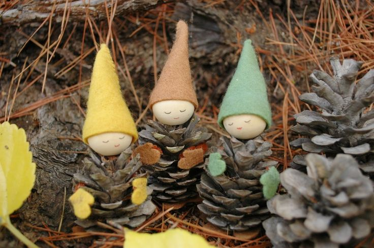 Felted Pine Cone Elves Tutorial