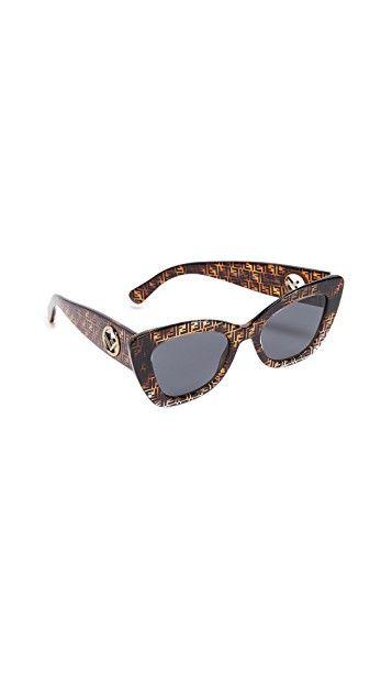 13afa22ca2475 Logo Narrow Cat Eye Sunglasses in 2019