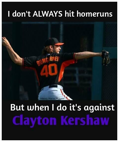 Madison Bumgarner is a beast. Such a humble guy and stand-up player