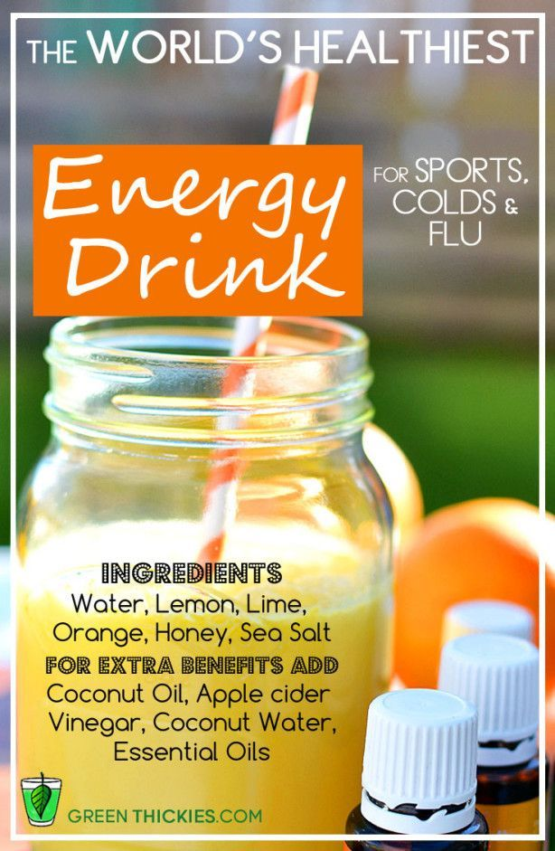 The world's healthiest energy drink - for electrolyte replacement during sports, colds and flu.