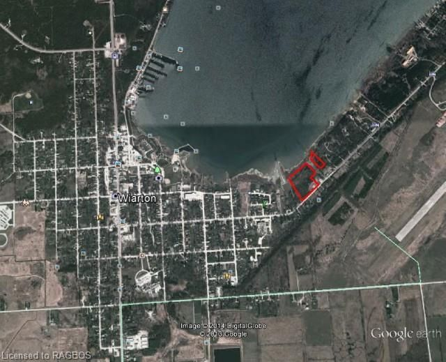 VACANT LAND LISTING - 800 Frank Street, Wiarton ON - Over 23 acres with water lots, 473 ft on Frank Street. 641 ft waterfront on the South side of Colpoy's Bay. Municipal sewer approx. 150 ft to the west of property and municipal water and gas just past property. A full report from the Grey Sauble Conservation Authority is available. Potential for 4 residential lots. Also includes Roll # 410258000323700.