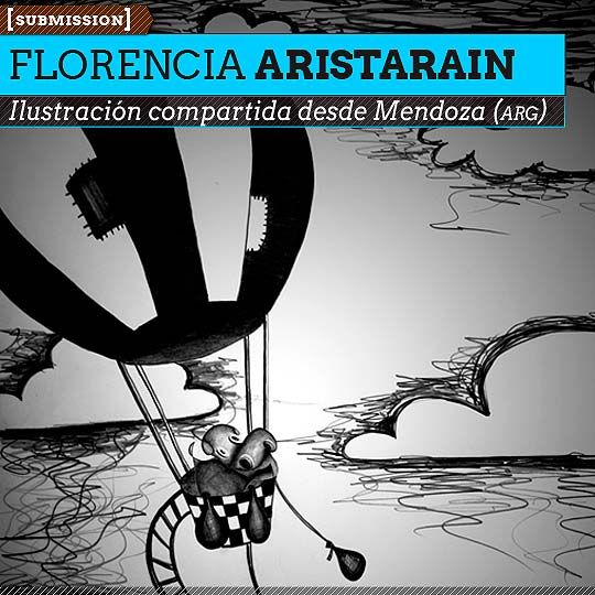 Ilustración. Globo de FLORENCIA ARISTARAIN  Ilustración compartida desde Mendoza (ARGENTINA).    Leer más: http://www.colectivobicicleta.com/2012/11/ilustracion-de-florencia-aristarain.html#ixzz2BjDyk7Yg