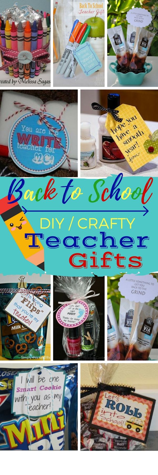 DIY First Day of School Teacher Gifts - Check out these first day of school teacher gifts. Making a fun little gift for back to school will let teachers know that you appreciate all they do for your child!