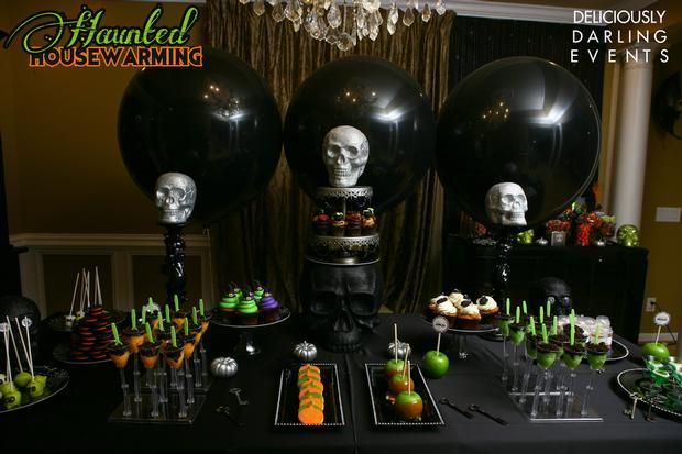 Hostess with the Mostess® - Haunted Halloween Housewarming. I really dislike little pin pics like this one but if you click it, this is one incredible halloween tablescape! Wow!