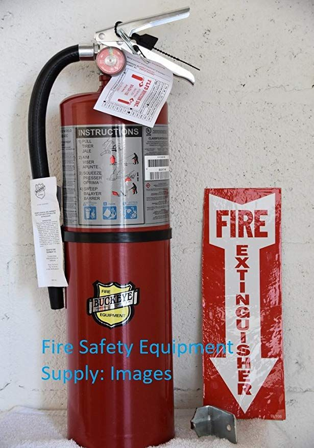 Lot Of 3 Buckeye 10 Lb Abc Fire Extinguisher Rechargeable And Certified Tagged Ready For Fire Inspections Wall Hook Fire Extinguisher Fire Systems Fire