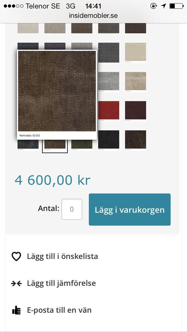 Förslag på tyg till soffan sammet.
