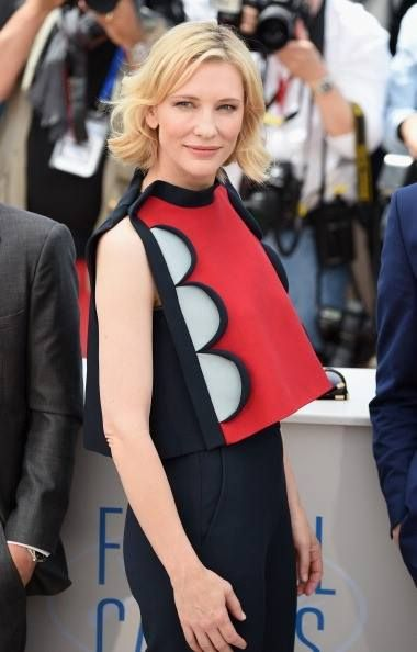 """#Delpozo, Cate #Blanchett attends the """"How To Train Your Dragon 2"""" photocall at the 67th Annual Cannes Film Festival in Cannes, France."""