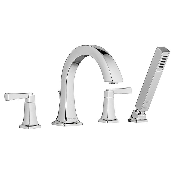 Townsend Double Handle Deck Mount Bathtub Faucet with Personal Shower