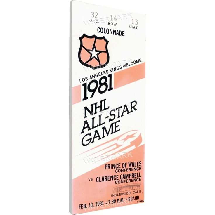 That's My Ticket 1981 NHL All-Star Game Ticket, Team