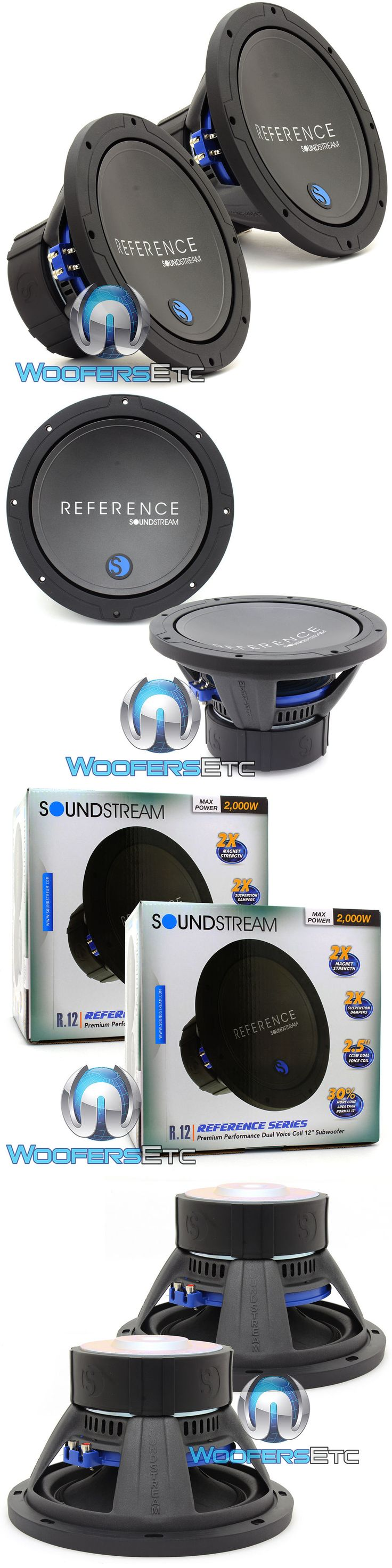 Car Subwoofers: (2) Soundstream R.122 Pro Subs 12 4000W Max Dual 2-Ohm Subwoofers Speakers New -> BUY IT NOW ONLY: $299.99 on eBay!