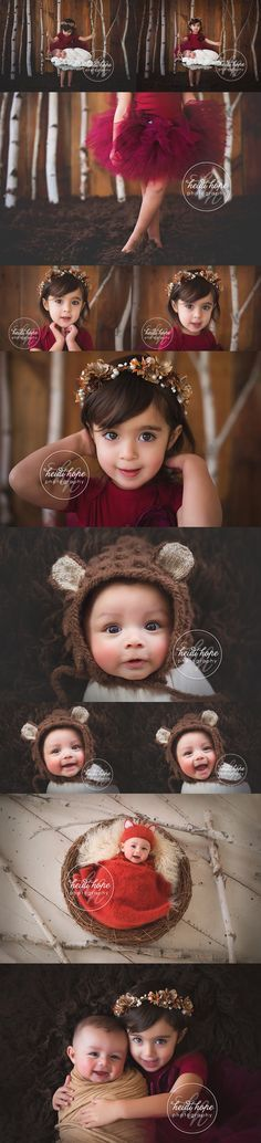 4 months old with his big sister in a #winter #wonderland #sibling session. Tutu by @strawberrierose !