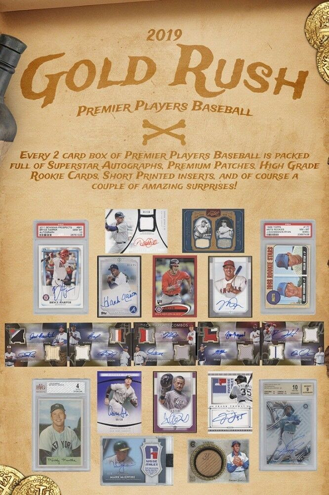 2019 Gold Rush Premier Players Baseball 6-Box Case PRESALE 2/8/19