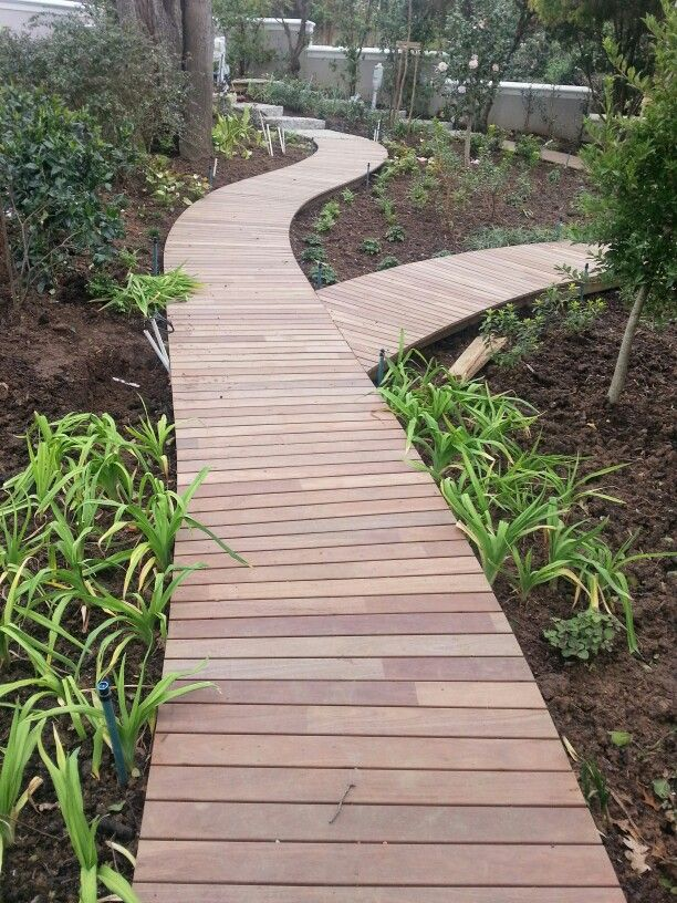 Curved Garden Walkway By Www Prodecking Co Za In 2019