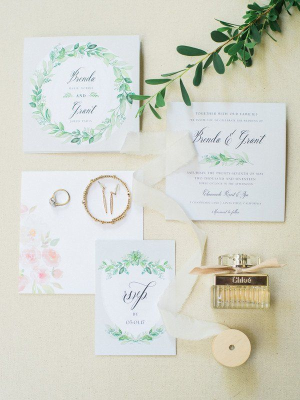 avery address labels wedding invitations%0A Greenery wedding invitations  greenery motif with elegant calligraphy   Ditto Dianto Photography