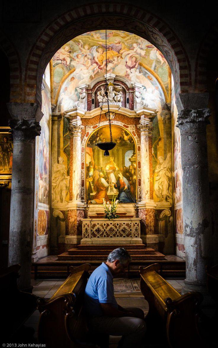 La cattedrale di San Giusto in Trieste (Italia)