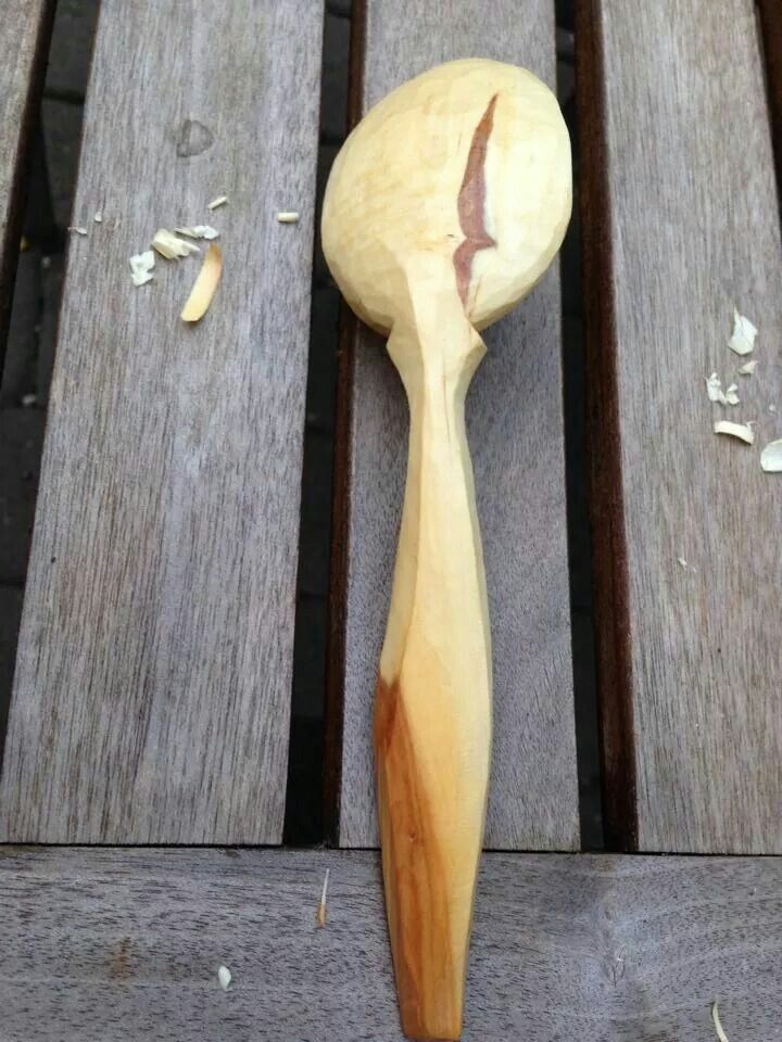 Hand carved spoon cuencos y cucharas de madera wooden