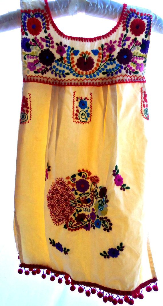 Embroidered Mexican dress // Elizabeth Palmer