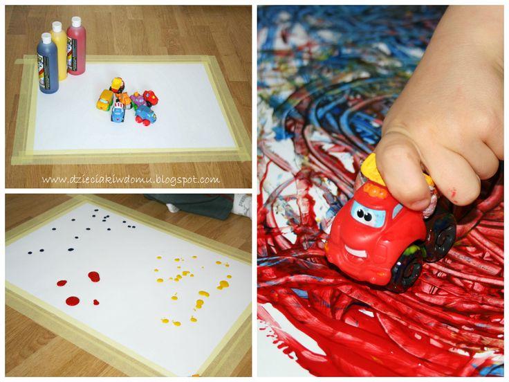samochodzikowe malowanie / creative painting with toy cars