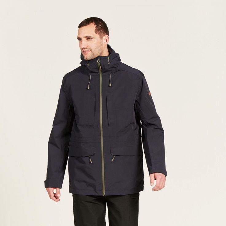 veste impermeable 3en1 bleu marine powertrek homme - aigle 1