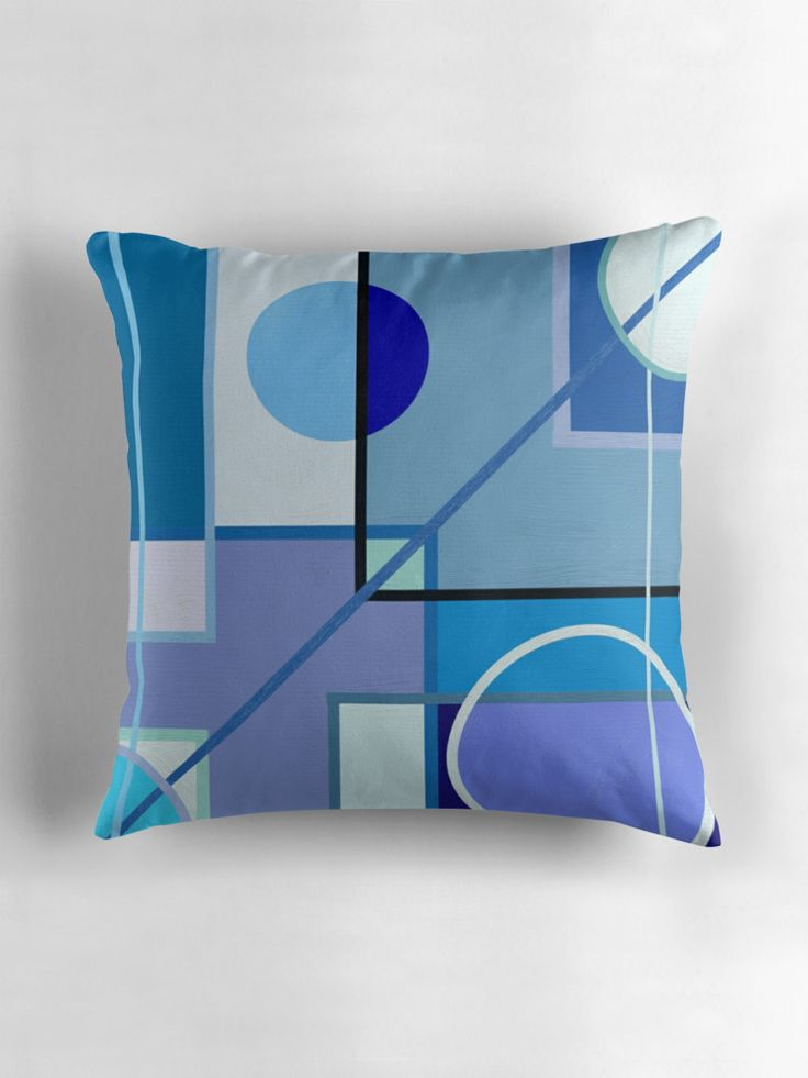 Blue by Silvia Ganora -   25% off #Pillows, #Posters, #Duvet #Covers, #Tapestries, and #Pouches. Use EXPLORE25 !!!  #homedecor #apparel #redbubble #discount #throwpillows #abstract #blue #modern #geometric