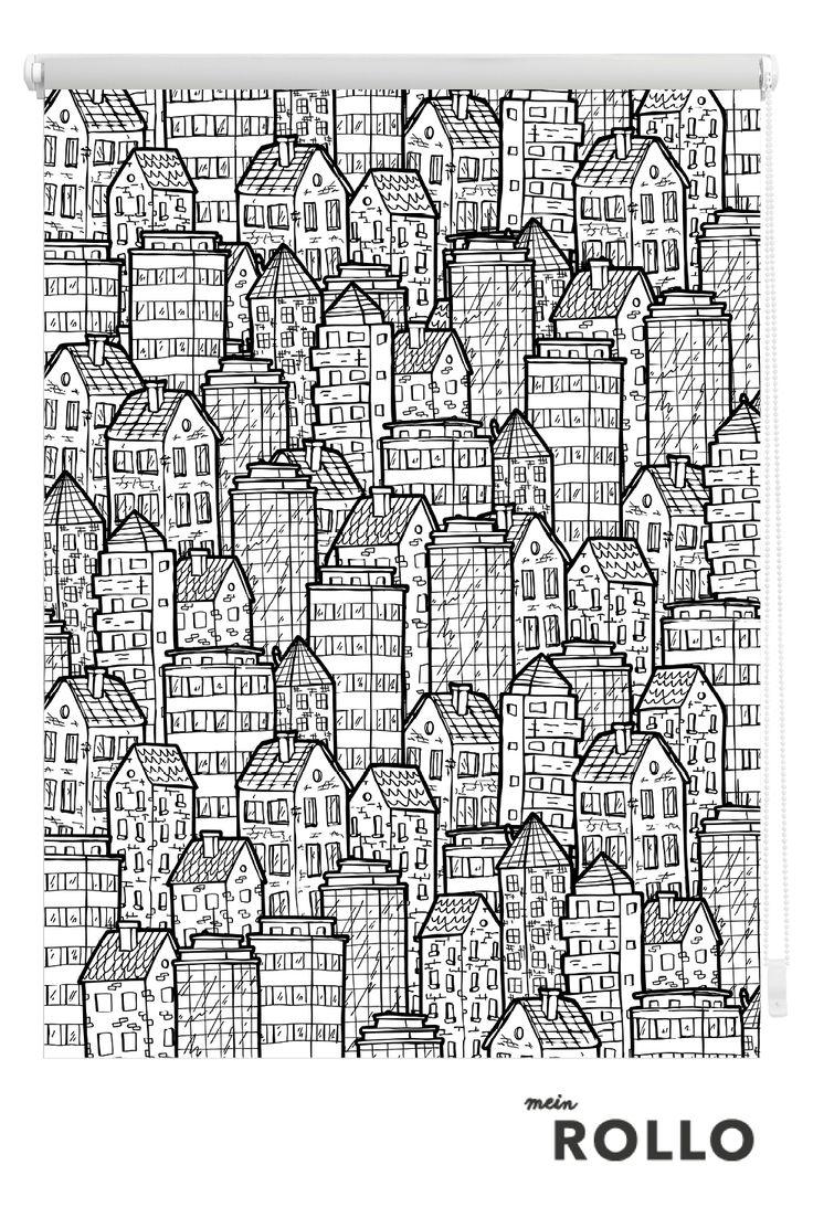 Mein Rollo - das Rollo zum Selbstgestalten. Dieses und viele weitere tolle Motive für dein Rollo findest du auf www.meinrollo.de. Wir wünschen Dir viel Spaß beim aussuchen!(Wohnidee, Sonnenschutz, Deko Schwarz&Weiß, Fensterdekoration,Muster)