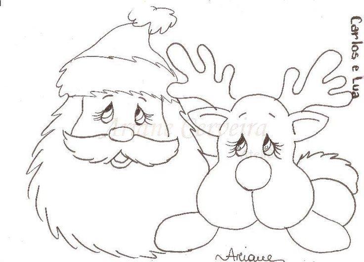 Art'sanália: Riscos para pintar Renas do papai Noel!