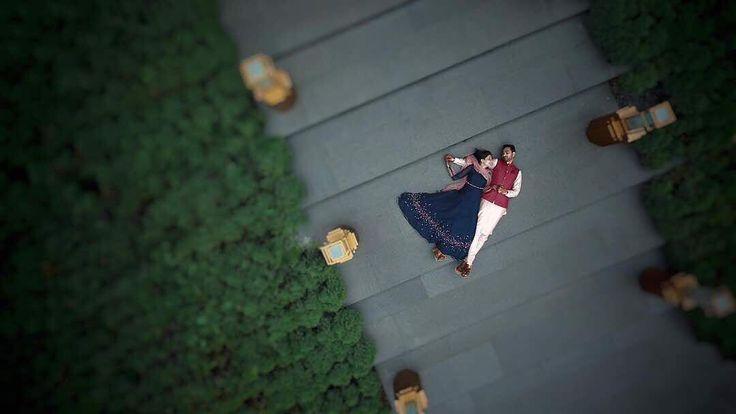Loving this aerial shot from Thailand wedding! #coupleshot #prewedding #couplephotoideas #musthavephotos #shaadisaga