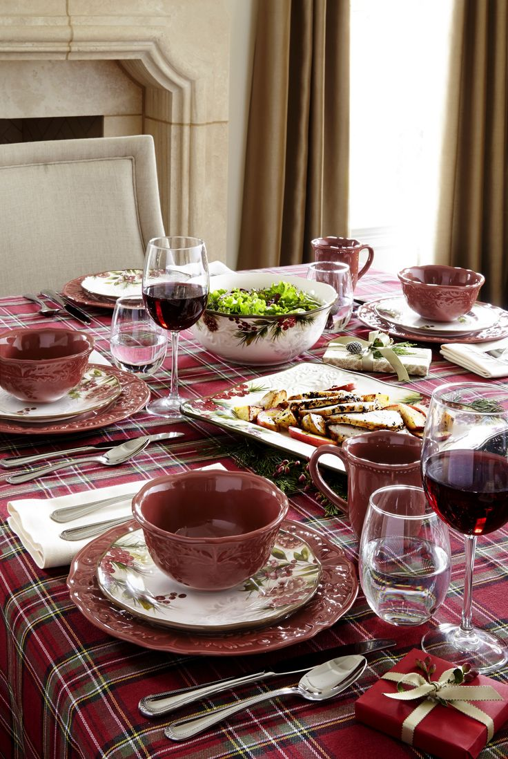 Decorating Ideas > With A Textured Surface And Classic Design, This Cranberry  ~ 192459_Jcpenney Thanksgiving Decorations